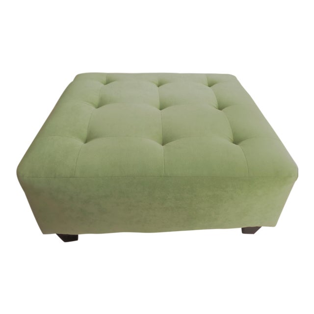 Suede Ottoman/Coffee Table - Huge! For Sale