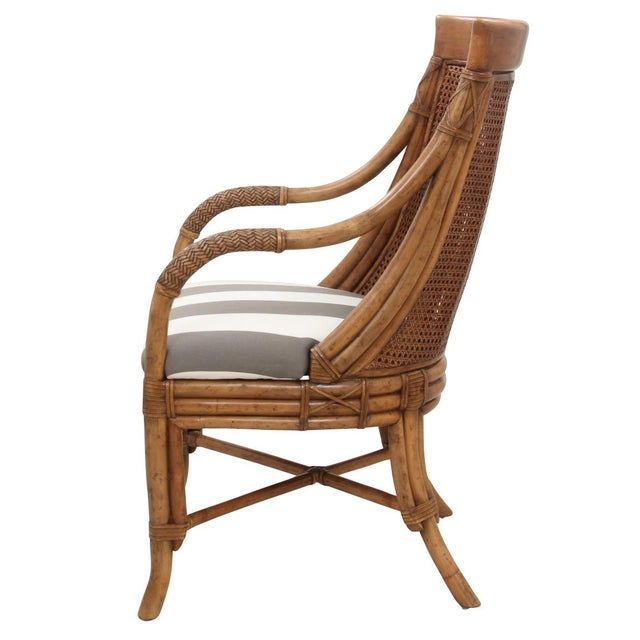 Bamboo Bamboo Dining Chairs - Set of 8 For Sale - Image 7 of 9