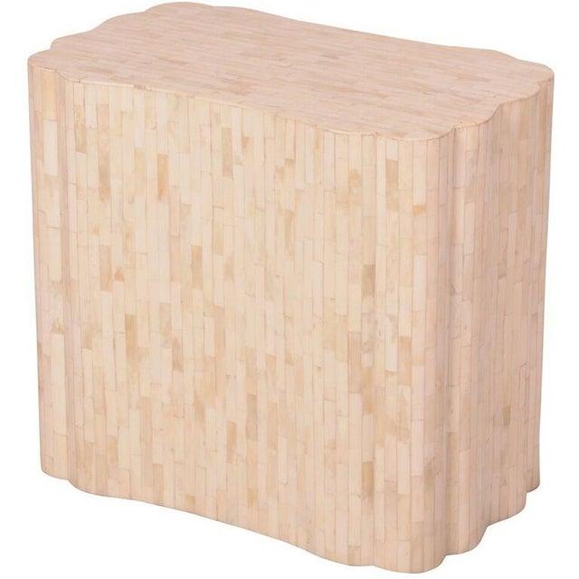 Bone Inlay Rectangular Side Table - Image 1 of 4