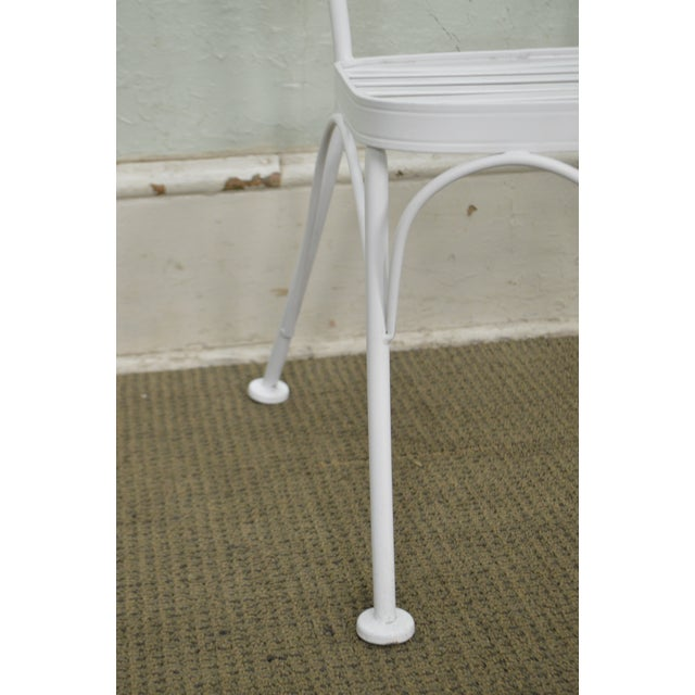 Woodard Set of 4 White Painted Scrolled Iron Patio Dining Chairs For Sale In Philadelphia - Image 6 of 10
