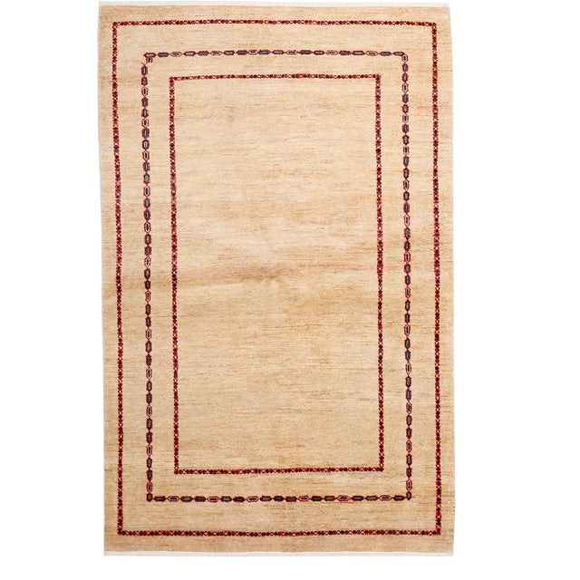 "Contemporary Hand Knotted Area Rug - 4'1"" X 6'4"" - Image 1 of 3"