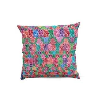 Hand-Woven Floral Pillows - A Pair For Sale