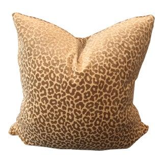 """Schumacher Cheetah Velvet 22"""" Pillows-A Pair For Sale"""
