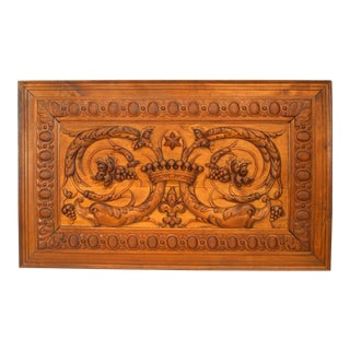 Italian Neo-Classic Waved Walnut Panel For Sale