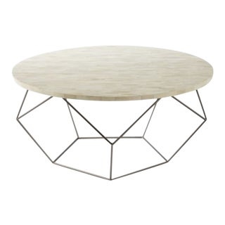 Abstract West Elm Origami Collection Coffee Table