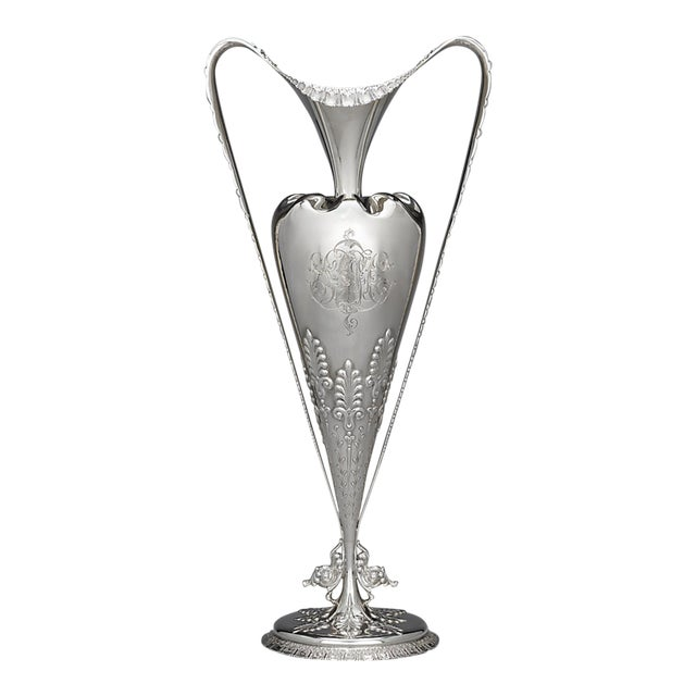 Tiffany & Co. Sterling Silver Art Nouveau Vase For Sale