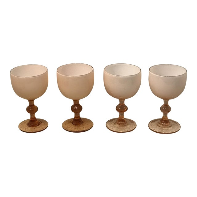 1950s Carlo Moretti Pink Cased Coupes - Set of 4 For Sale