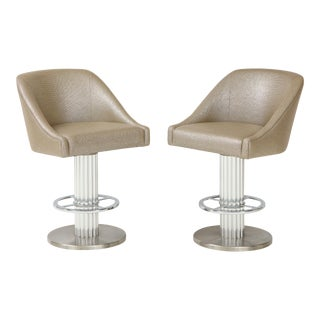 Designs for Leisure Bar Stools- A Pair For Sale