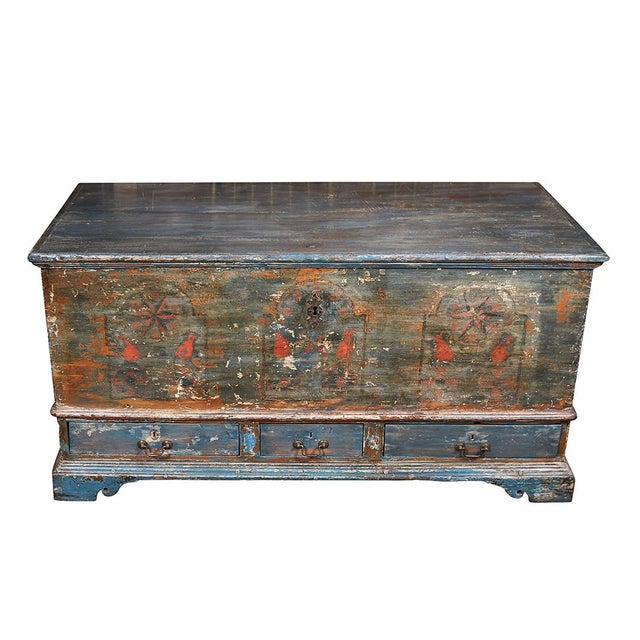Pennsylvania Blanket Box/ Dowry Chest For Sale - Image 9 of 9