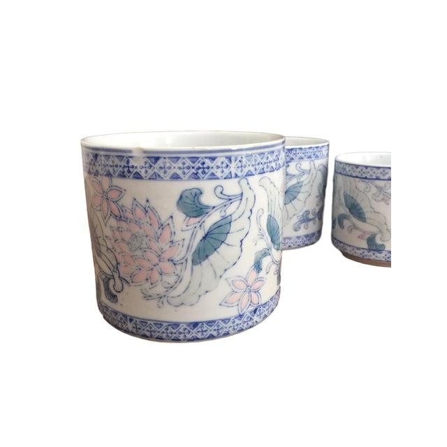 Antique Floral Pots - Set of 3 - Image 2 of 6