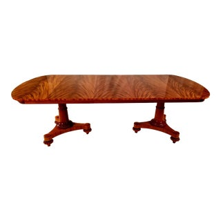 Neoclassical John Widdicomb Dining Table For Sale