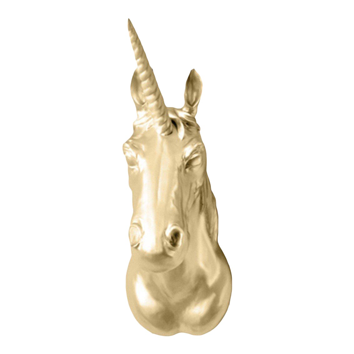 Wall Charmers Luna Faux Gold Unicorn Head Wall Hanging | Chairish