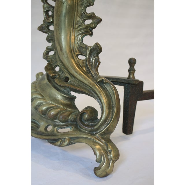 Baroque Bronze Andirons - A Pair - Image 6 of 8