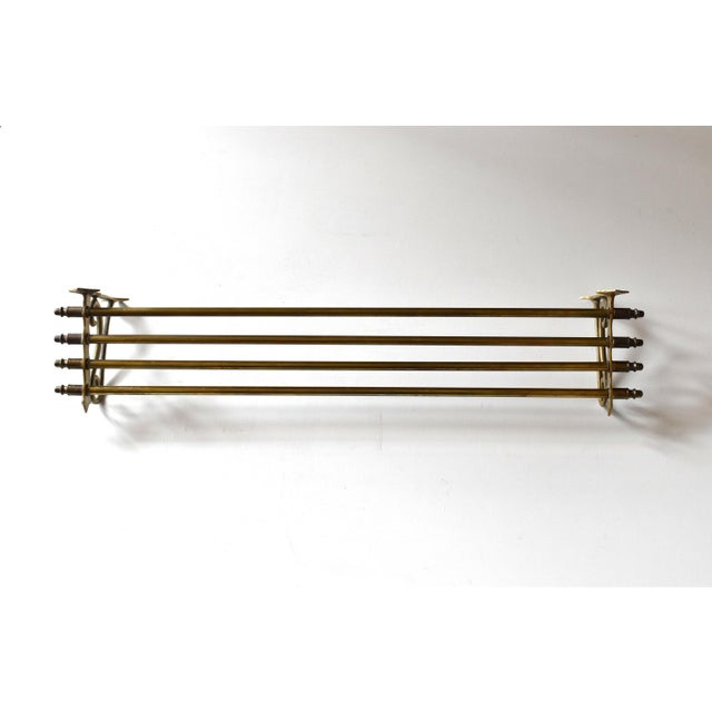 Early 20th Century Vintage Brass Wall Towel Rack For Sale - Image 4 of 9