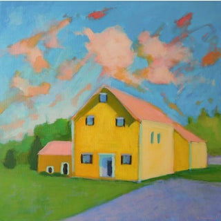 Yellow House by Anne Carrozza Remick For Sale