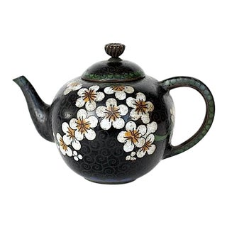 Antique Miniature Japanese Cloisonne Teapot For Sale