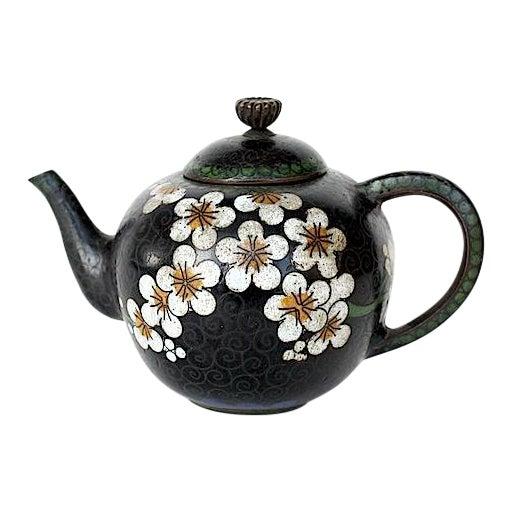 Antique Miniature Japanese Cloisonne Teapot For Sale