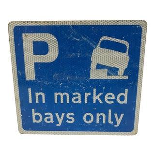 Vintage English Street Sign For Sale
