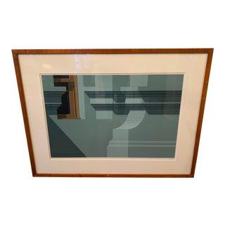 """Vintage Hugh Kepets """"West Side Ii"""" Screen Print For Sale"""
