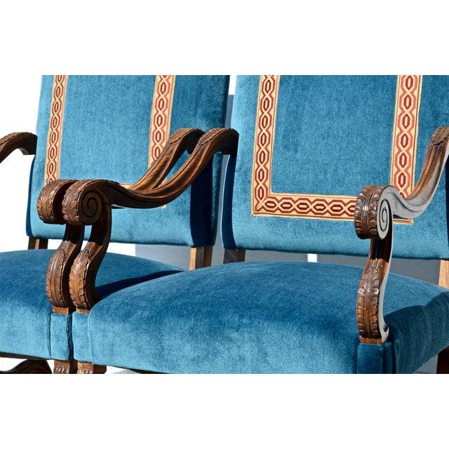 1980s Louis XIV Style Os De Mouton Armchairs, a Pair For Sale - Image 5 of 12