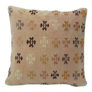 Vintage Embroidered Kilim Pillow For Sale