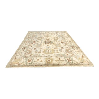 Handknotted Wool Area Rug For Sale