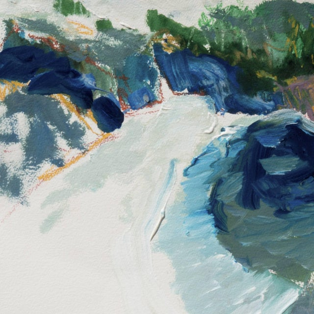 Impressionist 'Hidden Cove, Big Sur' by Robert Canete, Post-Impressionst California Seascape For Sale - Image 3 of 7