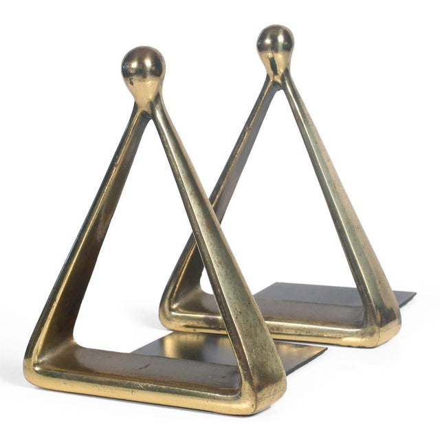 Bronze Triangle Bookends by Ben Seibel - Image 2 of 7