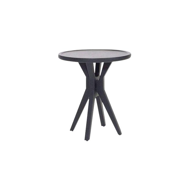 Boton Two Side Table Conacaste Wood With Black Stain For Sale