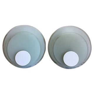 Lightolier Circle Wall Lights - a Pair For Sale