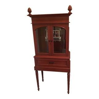 Mid-Century Modern Custom Wooden Breakfront For Sale