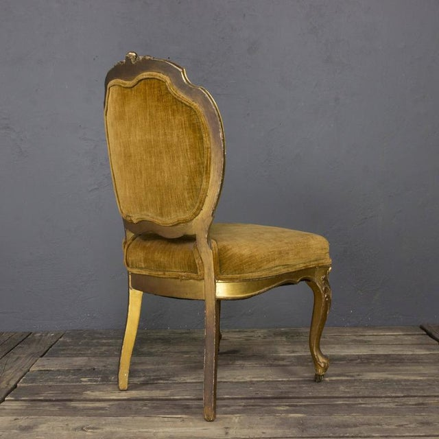 Pair of Rococo Revival Giltwood Side Chairs For Sale In New York - Image 6 of 11