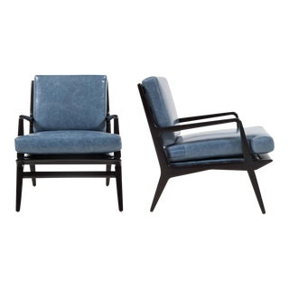 Pair of Landry Open Frame Club Chairs