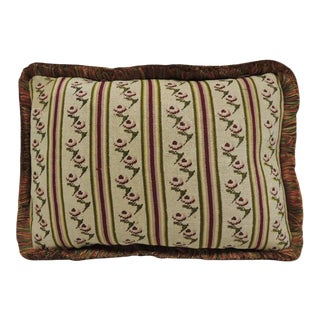 Antique Tapestry Petite Floral Decorative Pillow