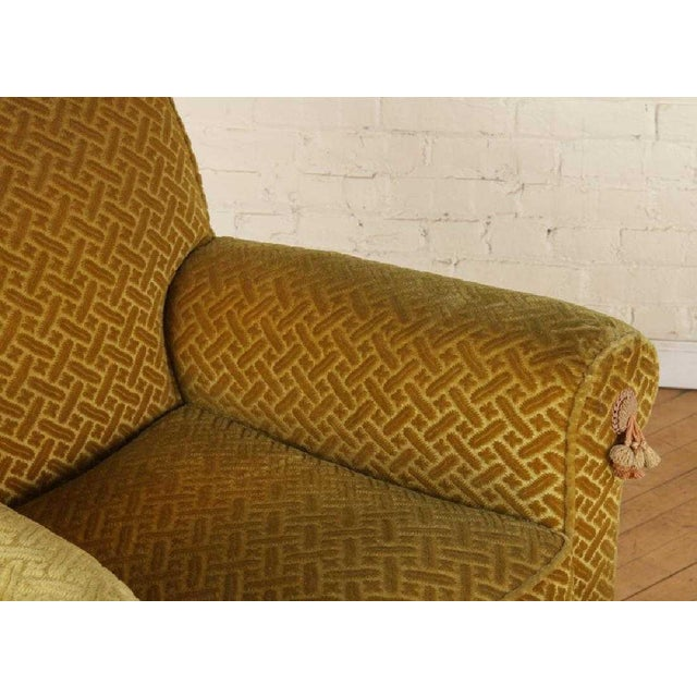 Pair of 1940s French Club Chairs With Matching Ottomans For Sale In New York - Image 6 of 8