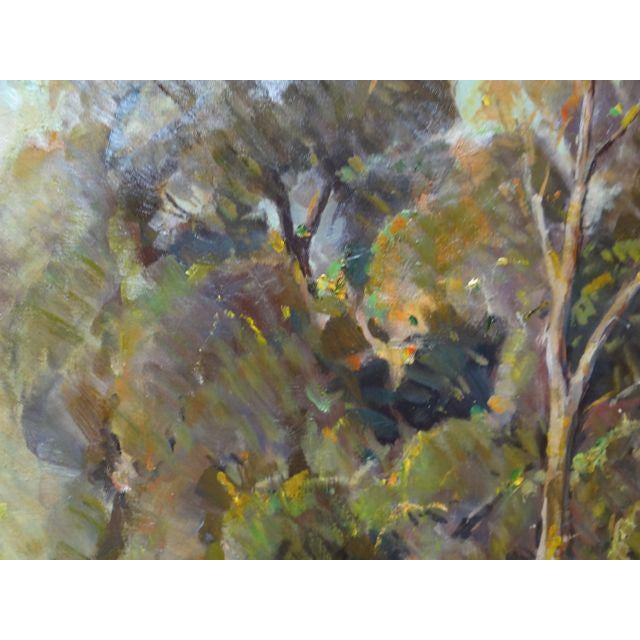 """1950s Vintage Walt Lee """"After the Rain"""" Oil on Canvas Painting For Sale In Los Angeles - Image 6 of 9"""