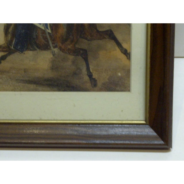 "Mid 20th Century ""Charge"" Framed & Matted Print For Sale - Image 5 of 7"