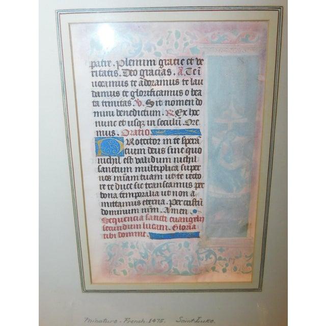 Gothic 15th Century Illuminated Manuscript For Sale - Image 3 of 5