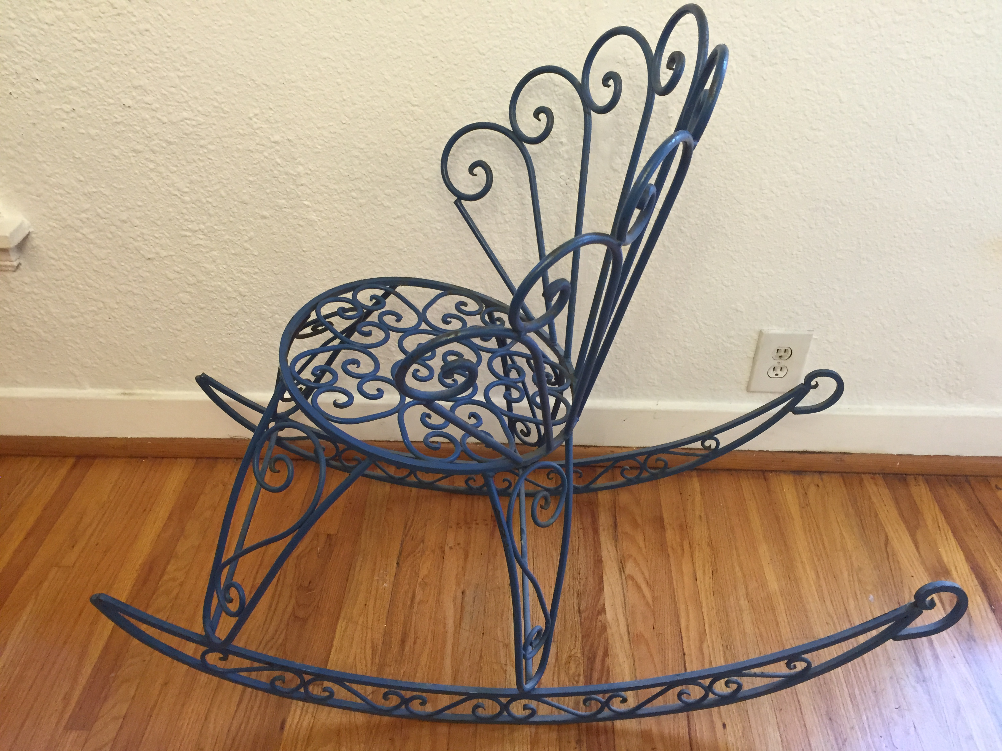 Unique French Cast Iron Rocking Chair Salterini   Image 3 Of 10