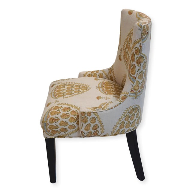 Boho Chic John Robshaw Upholstered Accent Chairs- a Pair For Sale - Image 3 of 8