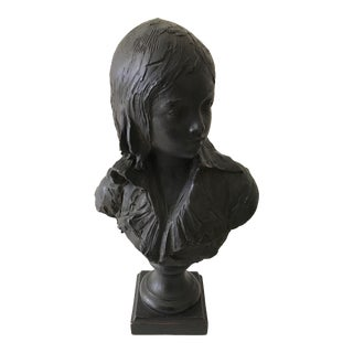 Late 19th Century Gorgeous Female Bronze Bust Stamped Sculpture For Sale