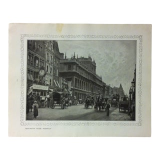 """1906 """"Burlington House - Piccadilly"""" Famous View of London Print For Sale"""