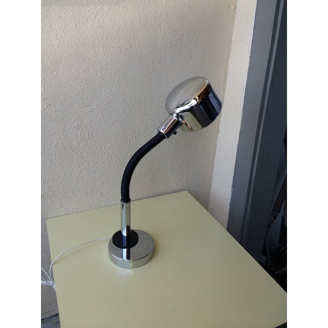 Chrome 1970's Space Age Chrome Desk Lamp For Sale - Image 7 of 8