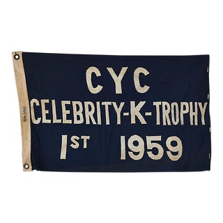 1959 Historic Cleveland Yacht Club Trophy Flag