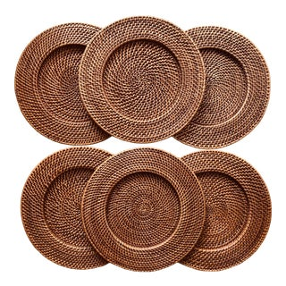 Rattan Woven Charger/Placemats-Set 6 For Sale