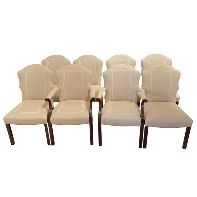 Squires Co. Custom Dining Chairs With Handles-Set of 8 For Sale - Image 10 of 10