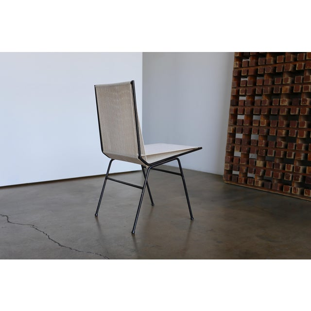 Mid 20th Century Mid-Century Modern Allan Gould String Steel Chairs - Set of 4 For Sale - Image 5 of 13