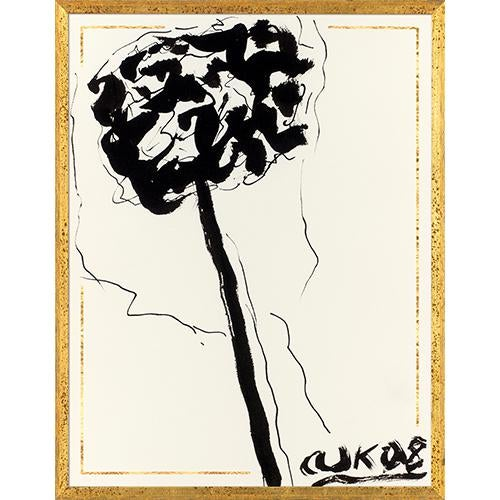 Arthur Krakower's Ink Flower 1 is both profound and familiar in its abstract and emotive quality, with bold strokes...