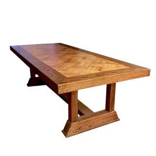 Parquet & Oak Dining Table
