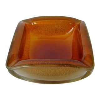 Archimede Seguso Glass Bowl For Sale